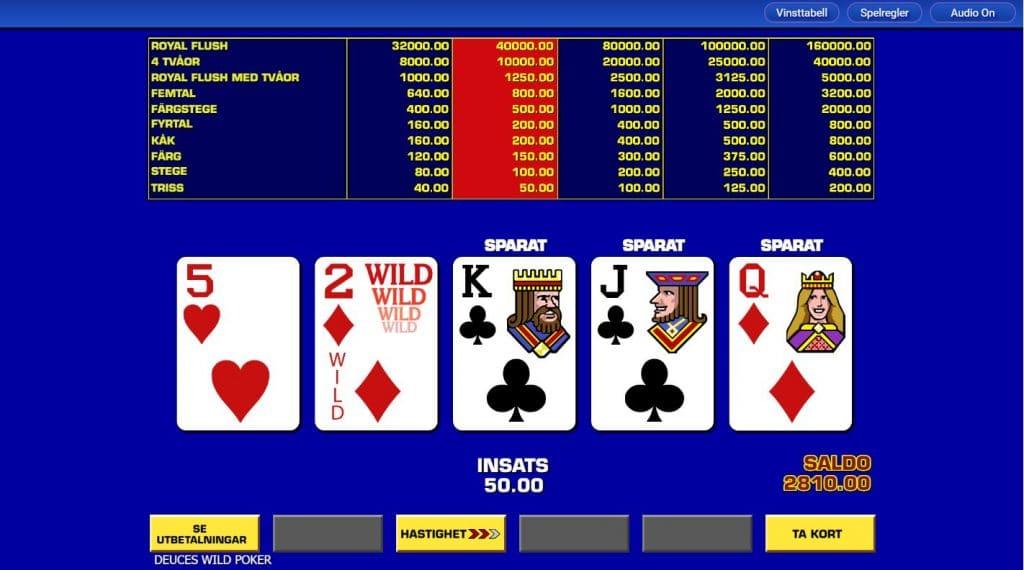 Video poker - Pokerslots hos svenska spelsidor på nätet